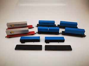 N Scale Lot of Flat cars and Trailers
