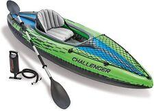 Canoa gonfiabile portatile a 1 posto, Intex Challenger  274 x 76 x 33 cm, Verde