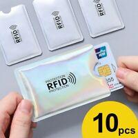 10pcs RFID Sleeve Debit Credit Card Protector Contactless Blocking Wallet Holder