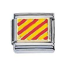 ORIGINAL Zoppini Nautik Flagge aus edelstahl, gold und emaille Y (C1BSB_NY00)