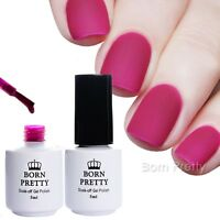 2Bottles Matt TOP COAT Überlack NO Wipe Soak off Nail Polish UV Gel BORN PRETTY