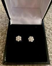 18ct White Gold Screw Back Diamond Earrings