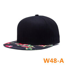 798e6bdc606 Mens Womens Floral Baseball Flat Caps Hip Hop Snapback Hat Adjustable Sun  Visor