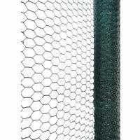 NEW 10x0.9m PVC Coated Galvanised Wire Netting Chicken Wire Garden Rabbit Fence