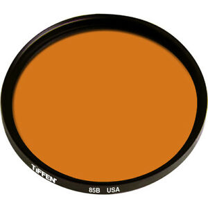 New Tiffen 72mm 85B Color Conversion Glass Filter 7285B