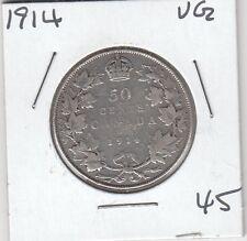 CANADA 1914 50 cent silver
