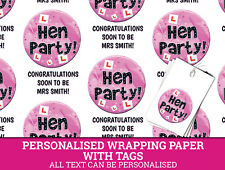 Hen Party Personalised Wrapping Paper with Free Tags Hen Do (1)