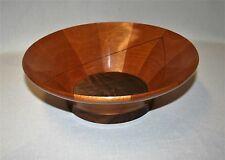 TURNED WOOD BOWL - MAHOGANY & WALNUT - CRAFTED BY MIKE KELLEY