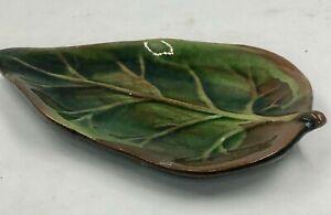 Vintage L'Occitane Soap Dish Verbena Lemon Leaf Pottery