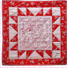 Peppermint Stitches Wall Quilt - pieced & stitchery Christmas PATTERN