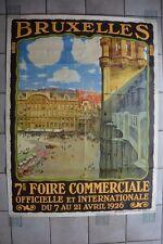 Vieille (1926) et grande (120x160) affiche originale de Bruxelles, par Toussaint