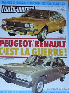 L'AUTO JOURNAL 1975 6 FIAT 133 CITROEN GS X2 RALLYE LYON CHARBONNIERES GENEVE