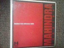 Mahindra Backhoe Parts Reference Guide Manual Operator 3265 3375 509 511
