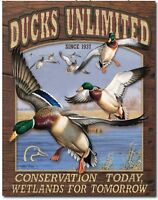 Ducks unlimited Metal tin sign conservation today Hunting Home Wall Decor new