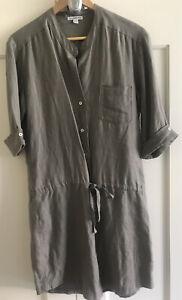 JAMES PERSE Khaki Linen Dress 2