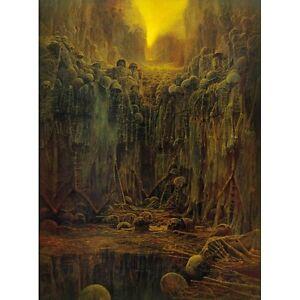 Beksinski Art Painting on canvas 23.6'' x 31.9'' LEGAL!