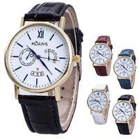Christmas Casual Men Rome Article Leather Band Analog Quartz Vogue Wrist Watches