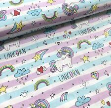 "Tissu / Fabrics ""Unicorn"" Coton 100% Popeline Licorne"