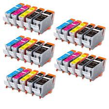 25 PK Printer Ink + Chip for Canon PGI-5BK CLI-8 iP4200 iP4500 MP500 FAST SHIP