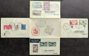 EDW1949SELL : FRANCE Scarce 1937 Round the World Aerogramme w/ flights from H.K.