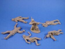 TSSD Plastic Toy Soldiers 1/32 CUSTER INDIAN CASUALTY WOUNDED SET 6 FREE SHIP