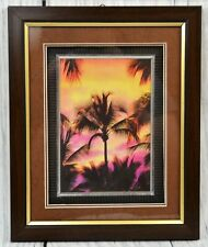 Tropical Sunset Palm Tree Landscape Scenery Nature Wall Art Framed Picture