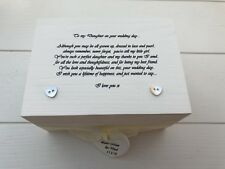 Shabby Personalised Chic Gift Box For Daughter On Wedding Day.. Bride Keepsake