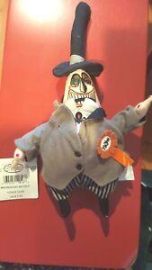 "a Disney 8"" Mayor Mini Bean Bag Beanie w/tags Nightmare Before Christmas 2 Faced"