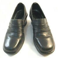 DANSKO Womens Size 38 US 7.5 8 Black Leather Triple Layer Clogs Comfort Shoes