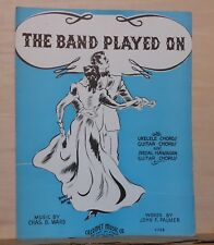 The Band Played On - 1936 sheet music, ukulele, guitar chords, spec. Haw. Guitar