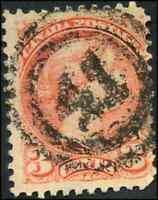 Canada #41 used F 1888 Queen Victoria 3c bright vermilion Small Queen 2-ring 41