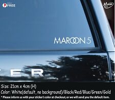 Maroon 5 Stickers  Maroon5 Reflective Car Decals Stickers Rock Band Best GiftsW