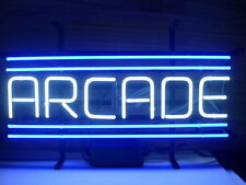 "New Arcade Game Room Blue Neon Light Sign 17""x8"""