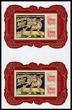 USA NO Die Cuts Sc. 4905c ($2) Circus Posters 2014 SS pair w. gutter