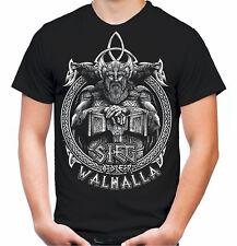 Sieg oder Walhalla Männer und Herren T-Shirt Odin Wikinger Valhalla Geschenk M1