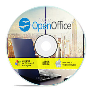 Open Office 2020 Office Software Word Process Presentation Database Calc H03
