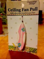 Clementine Design SURF BOARD Ceiling FanPull Chain Sea Rm Decoration Card is New