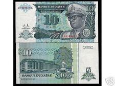 ZAIRE CONGO DR.10 Zaires P55 1993 *BUNDLE* LEOPARD MOBUTU UNC CURRENCY 100 NOTE