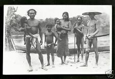 Borneo rppc Dayak Family Indonesia stamp 1931