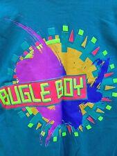 Vtg 90s BUGLE BOY Long-Sleeve M Shirt Hip Hop Neon Graphic Teal Surf Skate NWOT