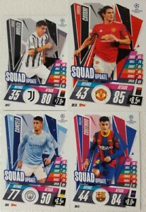 UEFA Champions League Match Attax Extra 2020/21 SQUAD UPDATE Card Set of 80