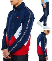 ellesse Retro Navy Shell Track Top, or Track Pants Mix Match - Sold Seperately