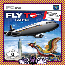 FLY TO TAIPEI (FOR MICROSOFT FLIGHT SIMULATOR X) (PC) Brand New