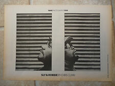 "SLY & ROBBIE, B&W, N.M.E  PICTURE, POSTER, 11.5"" X 16.5"""