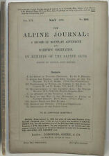1893 ALPINE JOURNAL 120 A RECORD OF MOUNTAIN ADVENTURE  & SCIENTIFIC OBSERVATION