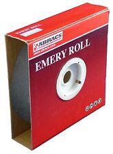 Abracs óxido de aluminio Esmeril Paño Rollo 25mm X 50mtr 120 Grit