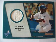 2001 TOPPS TRADED GAME USED BAT MARQUIS GRISSOM , DODGERS     BOX 53