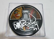 Michal Rozsival Signed 2013 Stanley Cup Puck w/COA Chicago Blackhawks #1