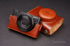 Handmade Genuine real Leather Full Camera Case Camera bag Cover for SONY RX100