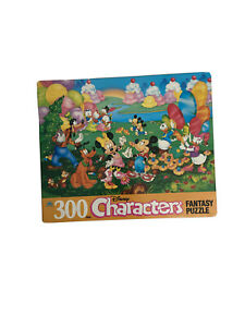 Vintage Golden Disney Characters 300 Piece Fantasy Puzzle Complete Mickey Minnie